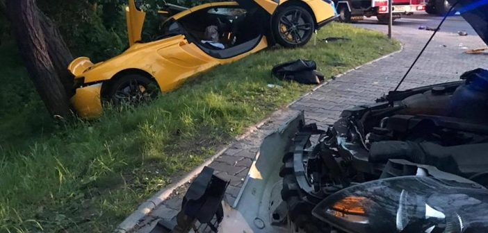Polska: McLaren 650S rozbity wKrapkowicach
