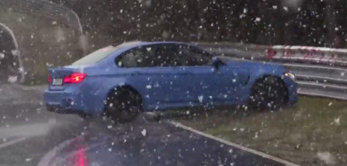 BMW M3 wpada wpoślizg iuderza wbarierki naNurburgringu (Video)