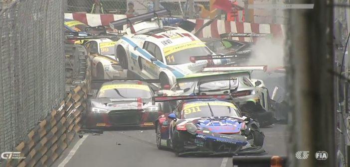 Karambol podczas Grand Prix Macau (Video)
