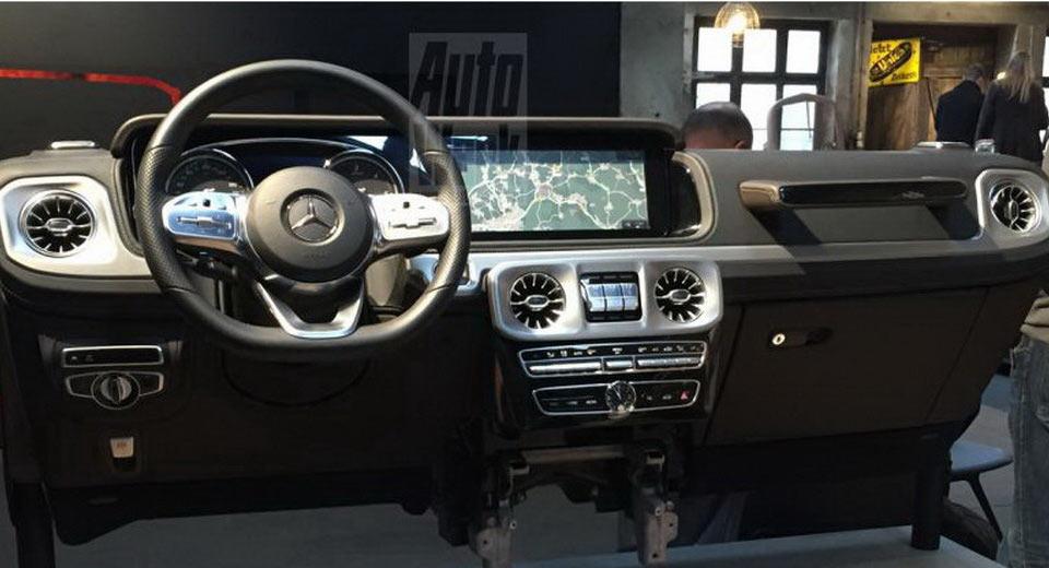 Nowy Mercedes Benz Klasy G Zdjecie Kokpitu Namasce
