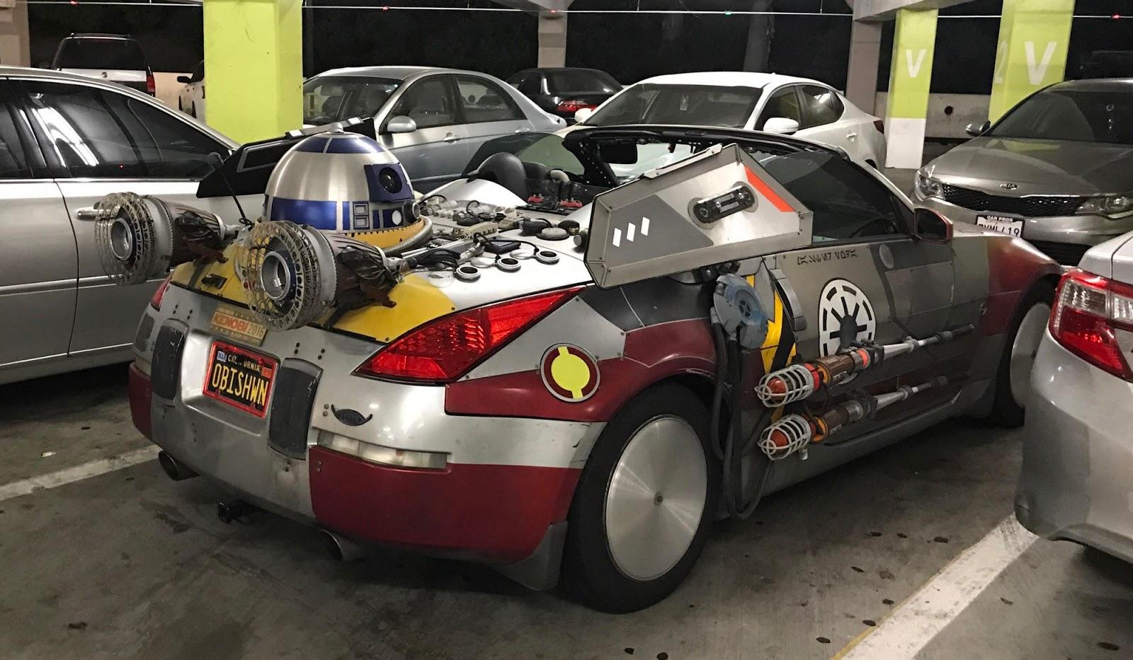 Domorosły tuner przerobił Nissana 350Z na auto z Gwiezdnych