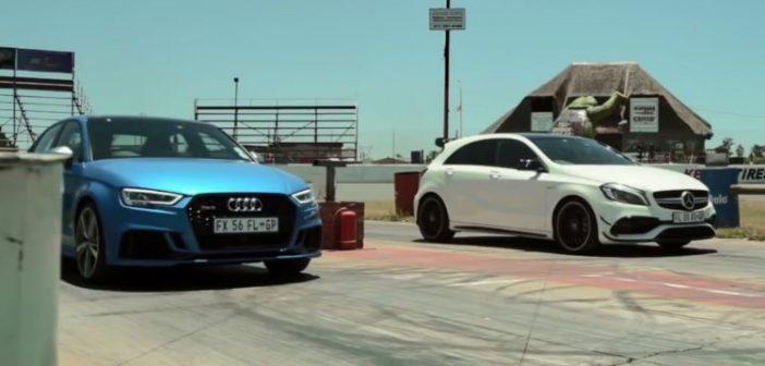 Audi RS3 vs Mercedes-AMG A45 – drag race (Video)