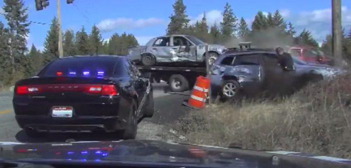 Gdywypadek powoduje… kolizję – fart policjanta (Video)