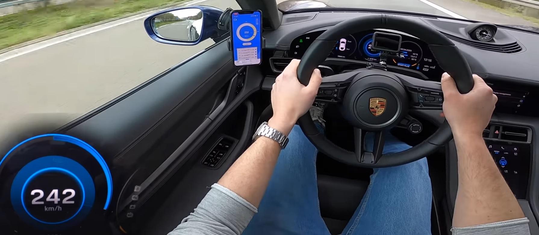Zobacz, jak Porsche Taycan łamie granice 260 km/h na niemieckiej autostradzie (Video)