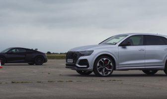 Audi RSQ8 vs Audi R8 - drag race