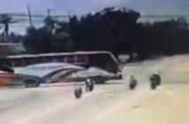 Trzech motocyklistów wjechało w linkę holowniczą