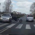 Wymuszenie pierwszenstwa i wypadek z udzialem motocyklisty
