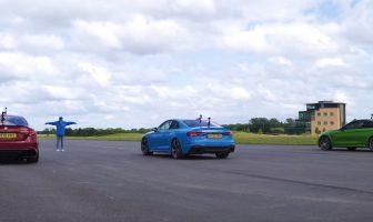 Drag race prawdziwych bestii: Alfa Romeo Giulia Quadrifoglio vs Audi RS5 vs BMW M4