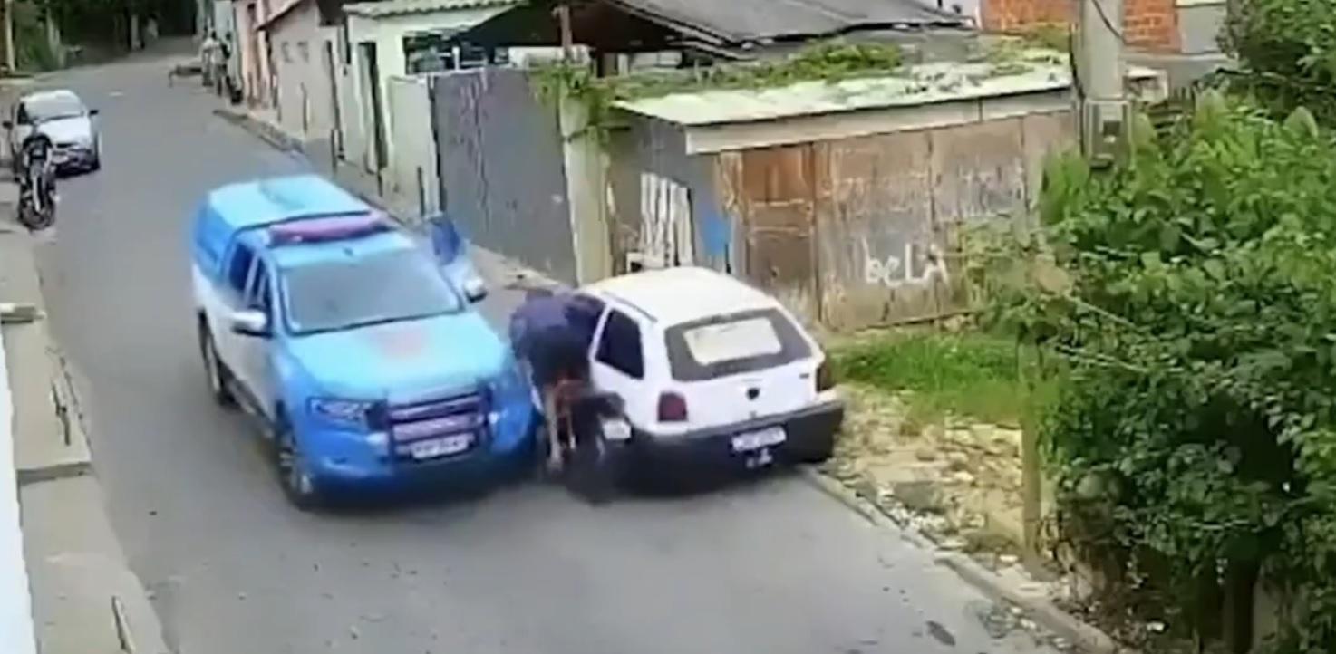Policja przygniotła złodzieja motocykla