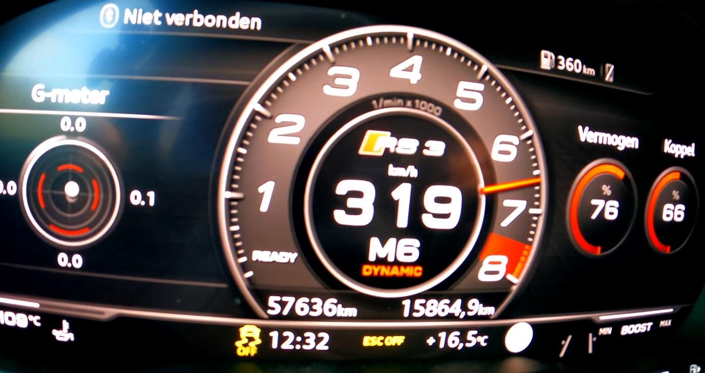 Audi RS3 650 KM - przyspieszenie
