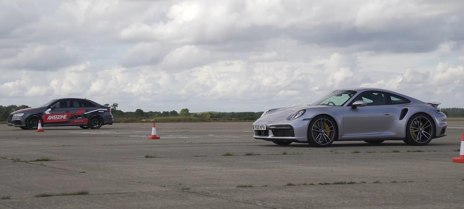 Porsche 911 Turbo S vs Audi RS3 716 HP
