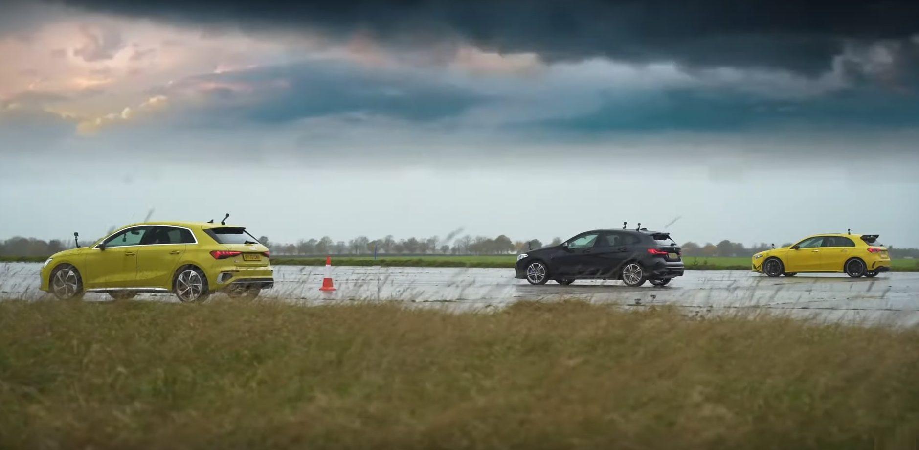 Audi S3 vs BMW M135i vs Mercedes-AMG A 35 (306 KM)