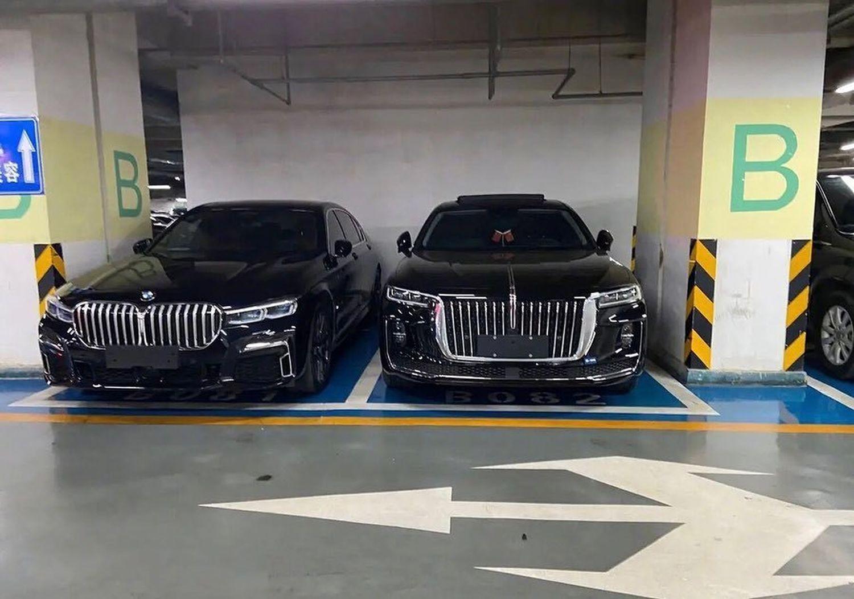 Chińska kopia BMW serii 7 - grill