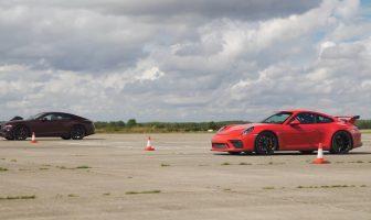 Drag race: Continental GT vs Porsche 911 GT3