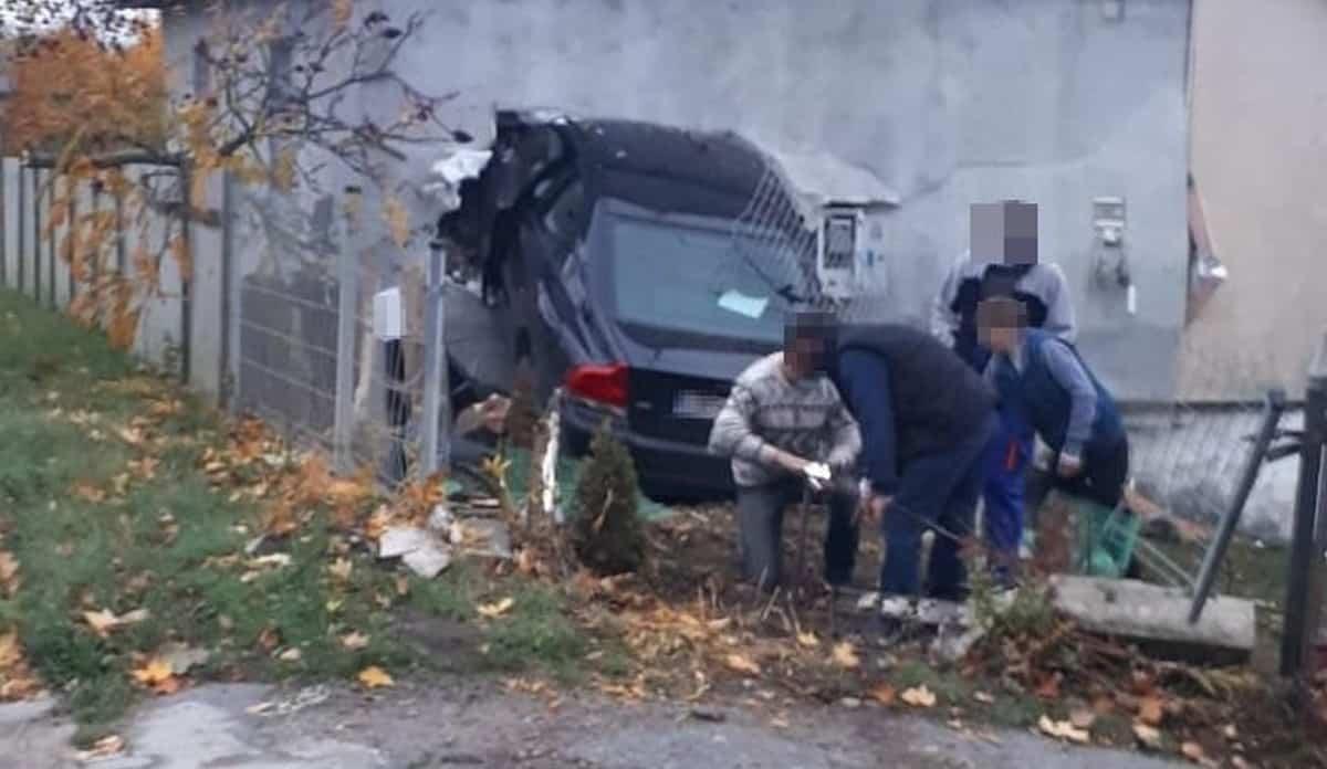 Kierowca wjechal w dom w Annopolu
