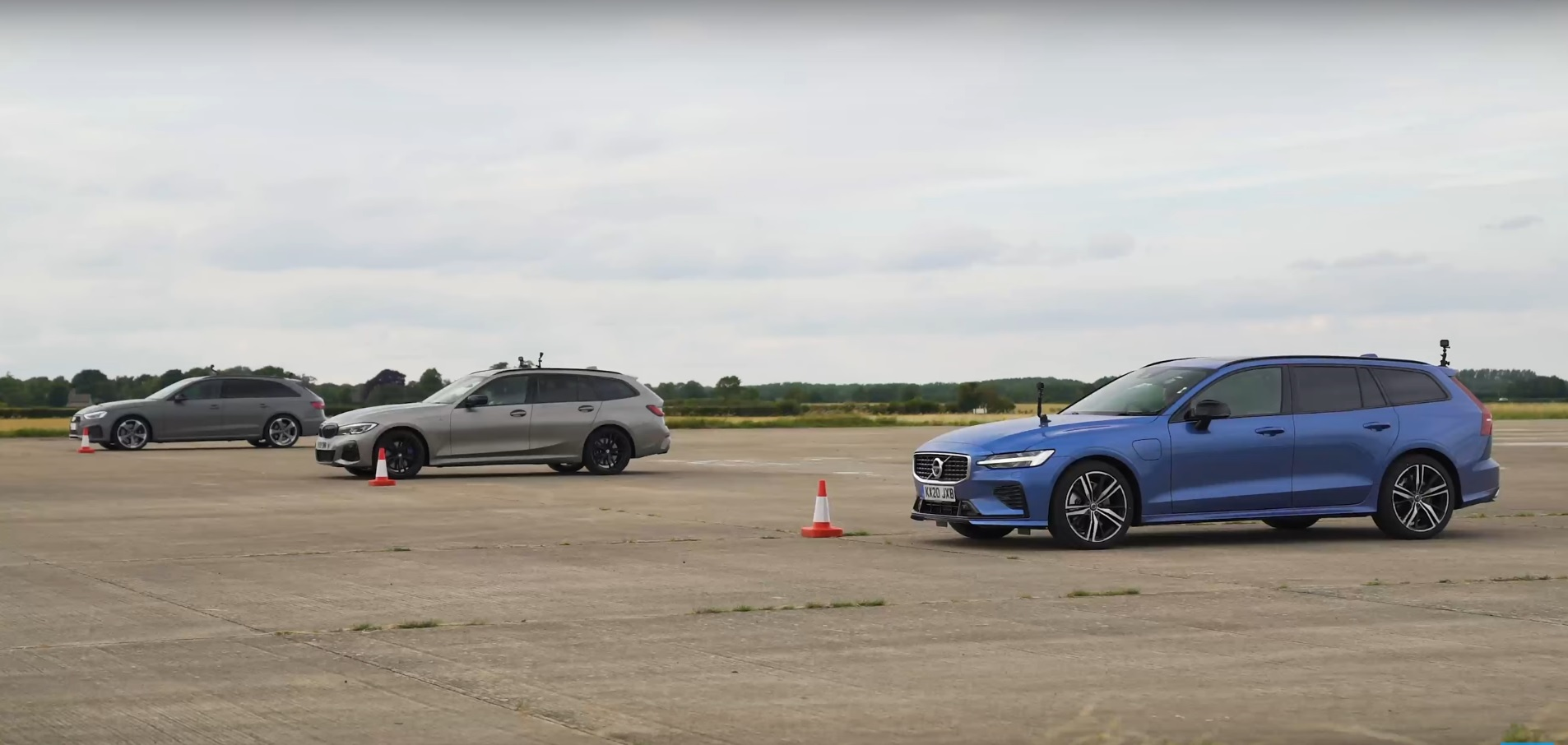 Audi S4 vs BMW M340i vs Volvo V60 T8