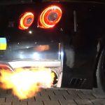 Nissan GTR pożar