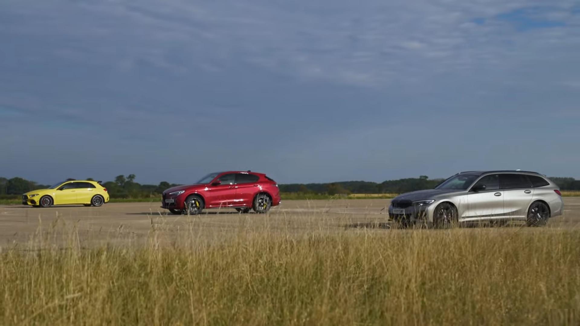 Alfa Romeo Stelvio QV vs BMW M340i vs Mercedes-AMG A 45 S