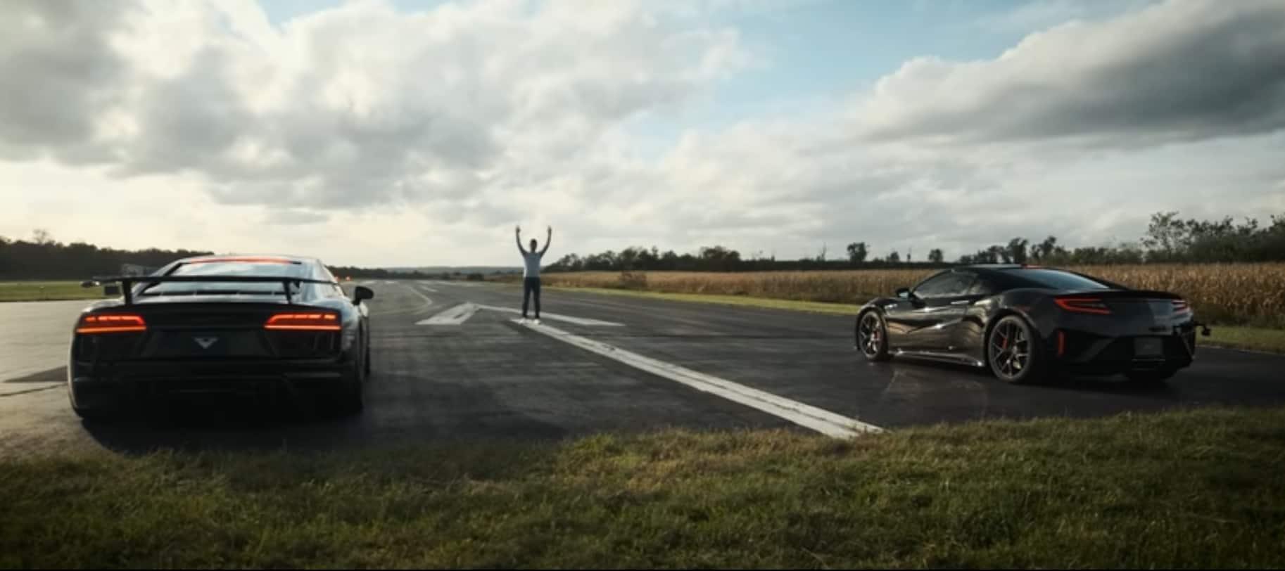 Audi R8 V10 Plus vs Honda NSX