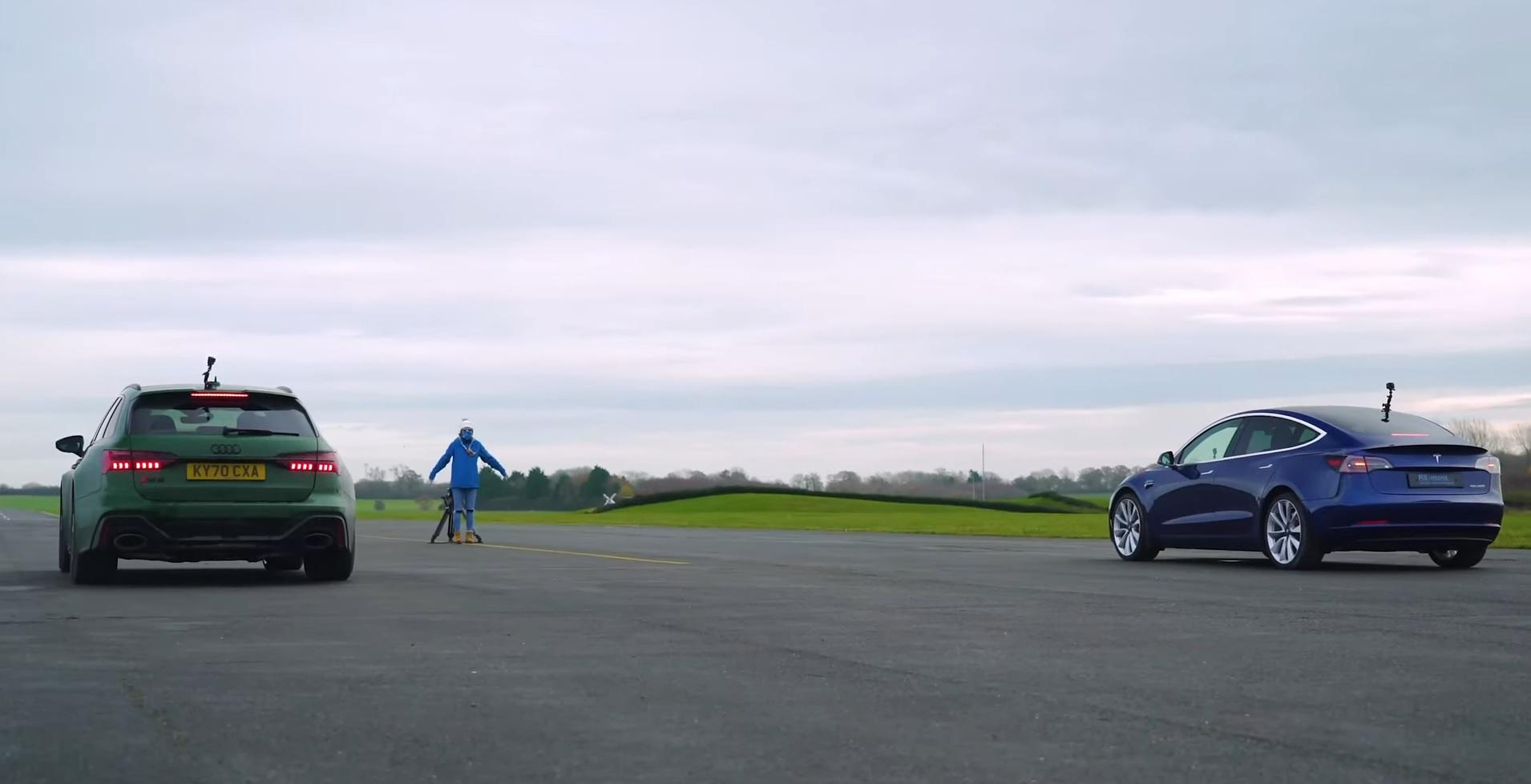 Audi RS6 vs Tesla Model 3 Performance