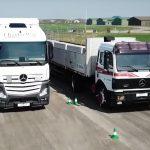Old semi vs new semi - brake test