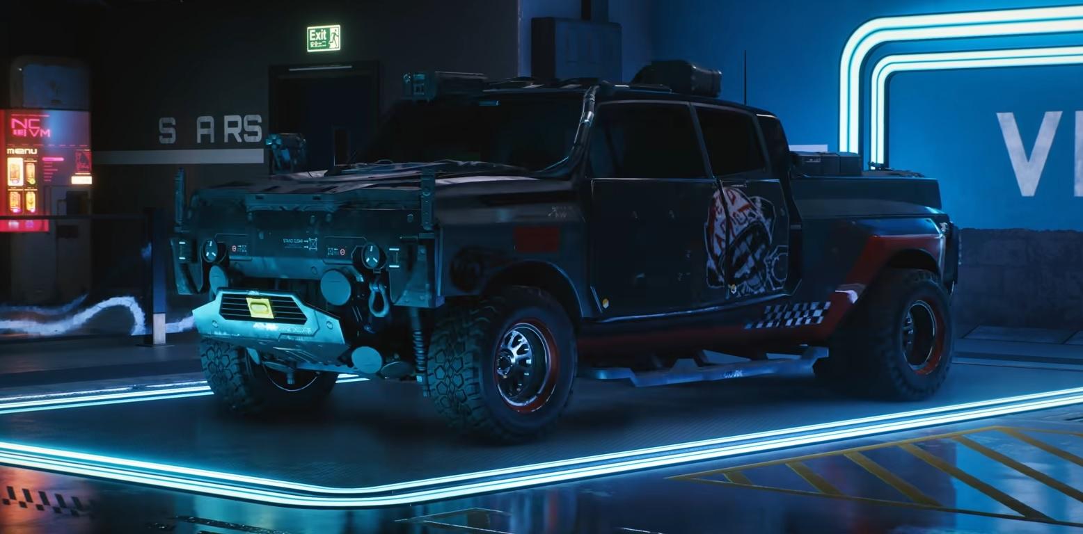 Cyberprunk 2077 samochody