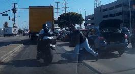 Road Rage motocyklisty i kierowcy