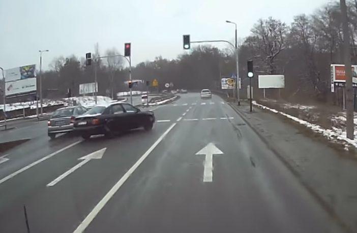 Głupota kierowcy Audi