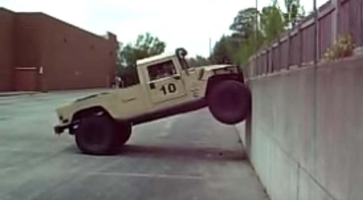 Hummer vs wall