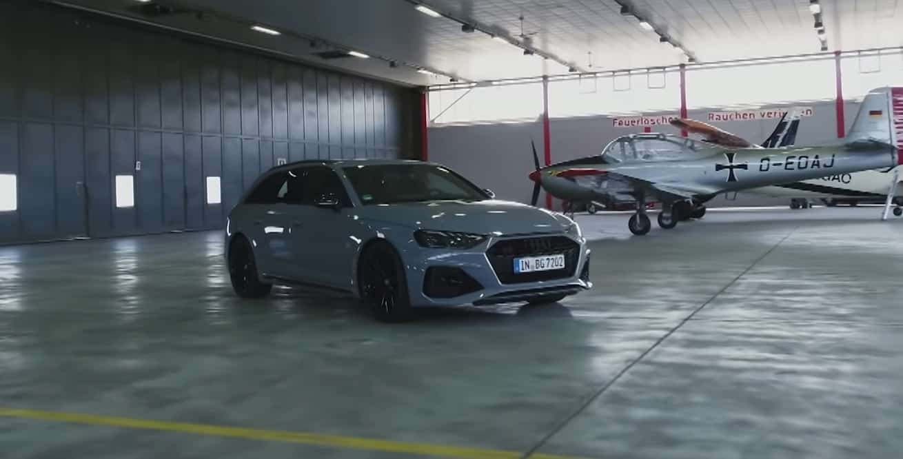 Audi RS4 good time on the german track