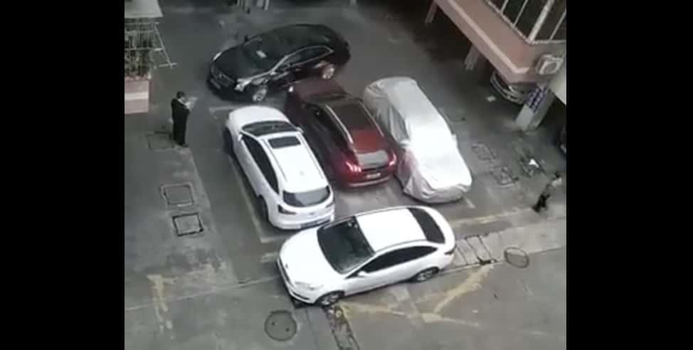 Taranowanie na parkingu