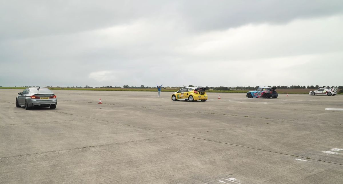 M5 G30 vs rallycross cars