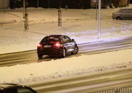 Lublin - lodowisko na drodze