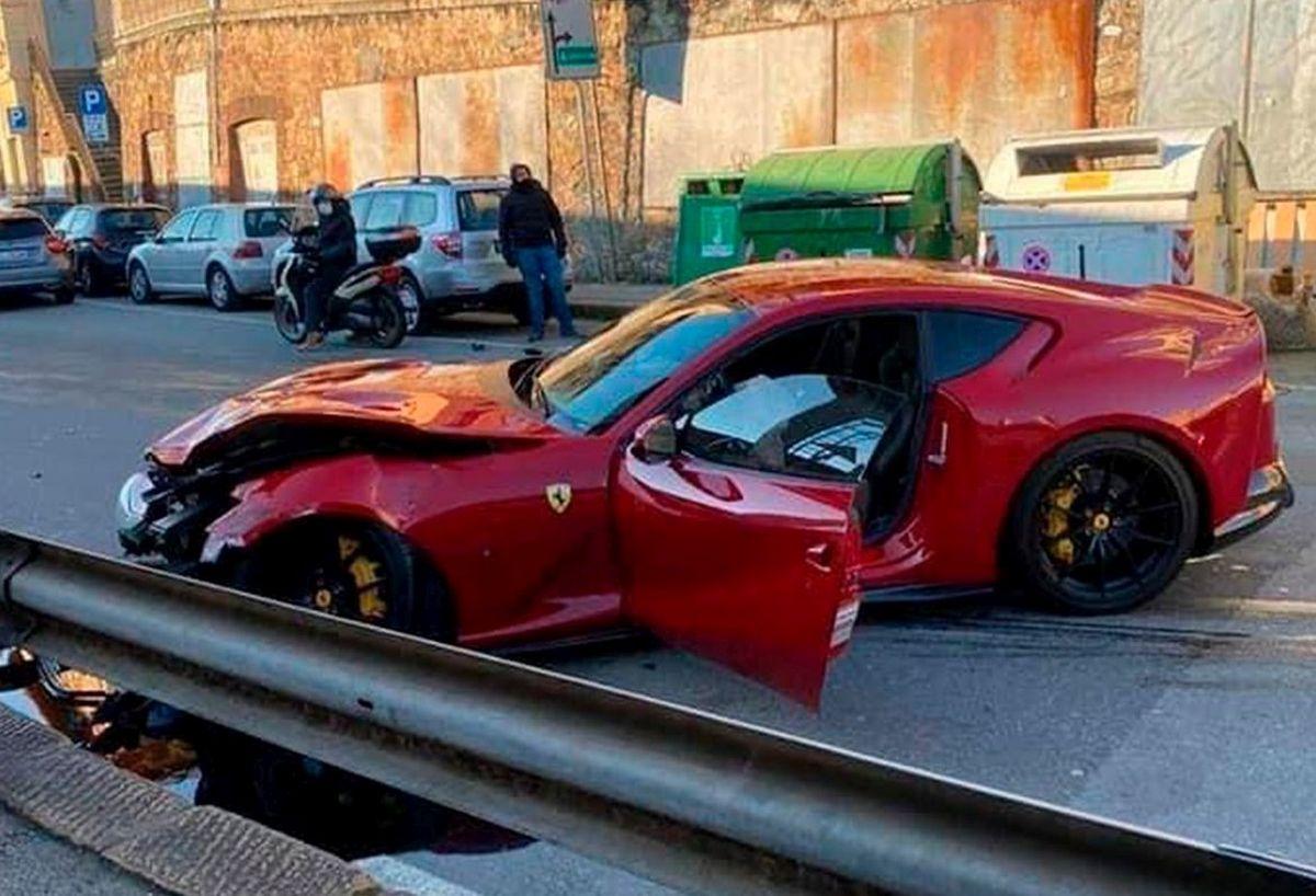 Marchetti's Ferrari crash