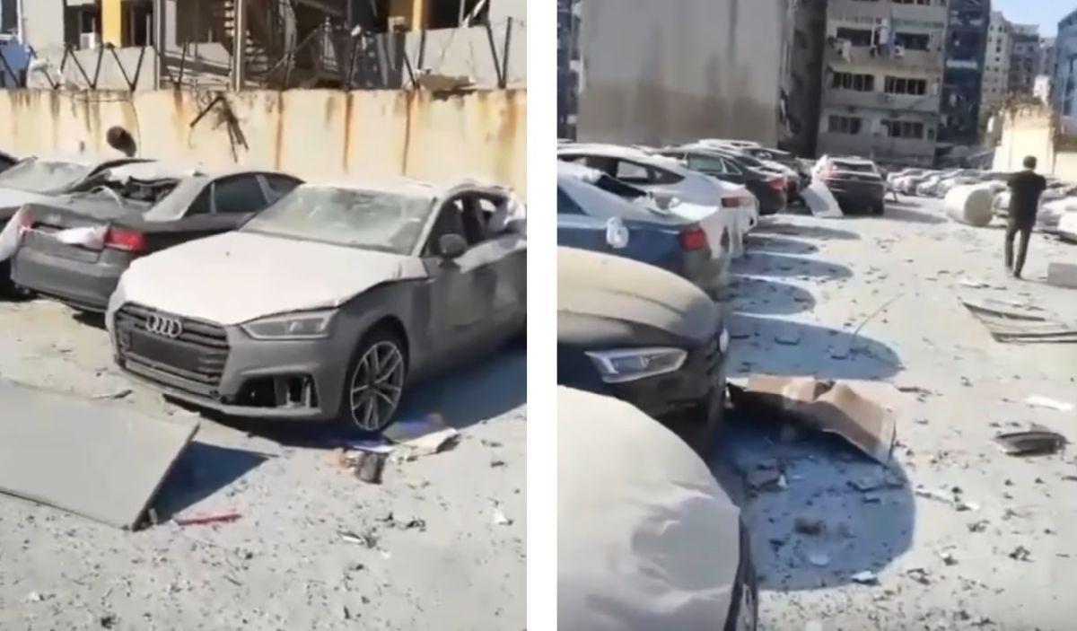 Dealer Audi po eksplozji w Bejrucie