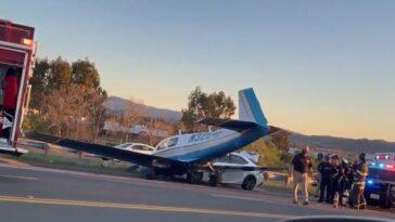 Zderzenie samolotu z samochodem