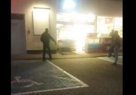 37-latka wjechała w budynek stacji paliw