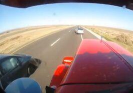 Zderzenie dwóch aut osobowych z ciężarówką
