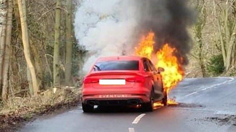 Pożar Audi RS3