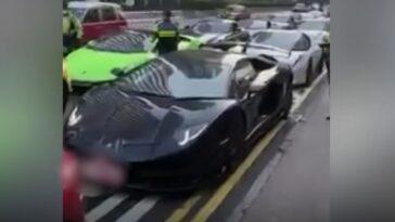 Zablokowanie sportowych aut w Hongkongu