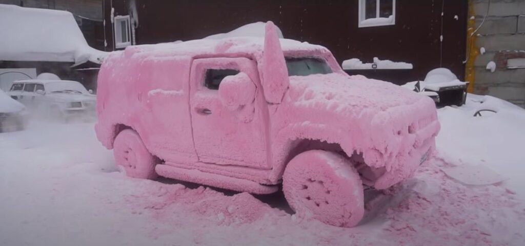 Mycie auta przy ujemnej temperaturze