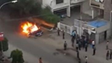 Auto z LPG wybuch