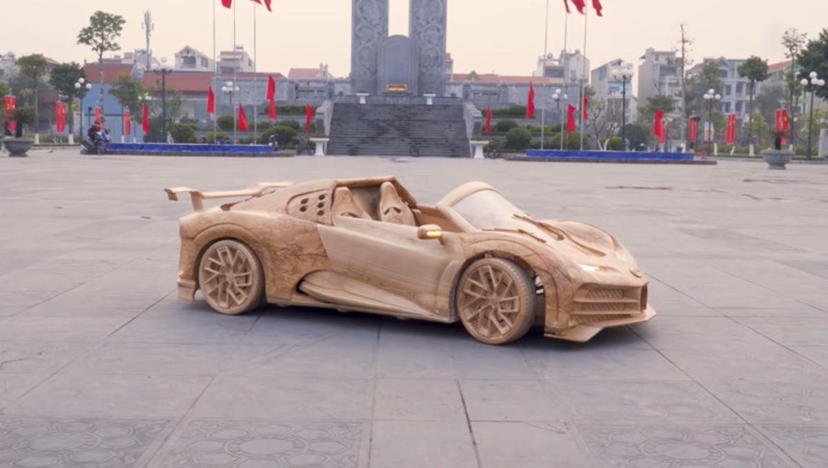 Bugatti z drewna