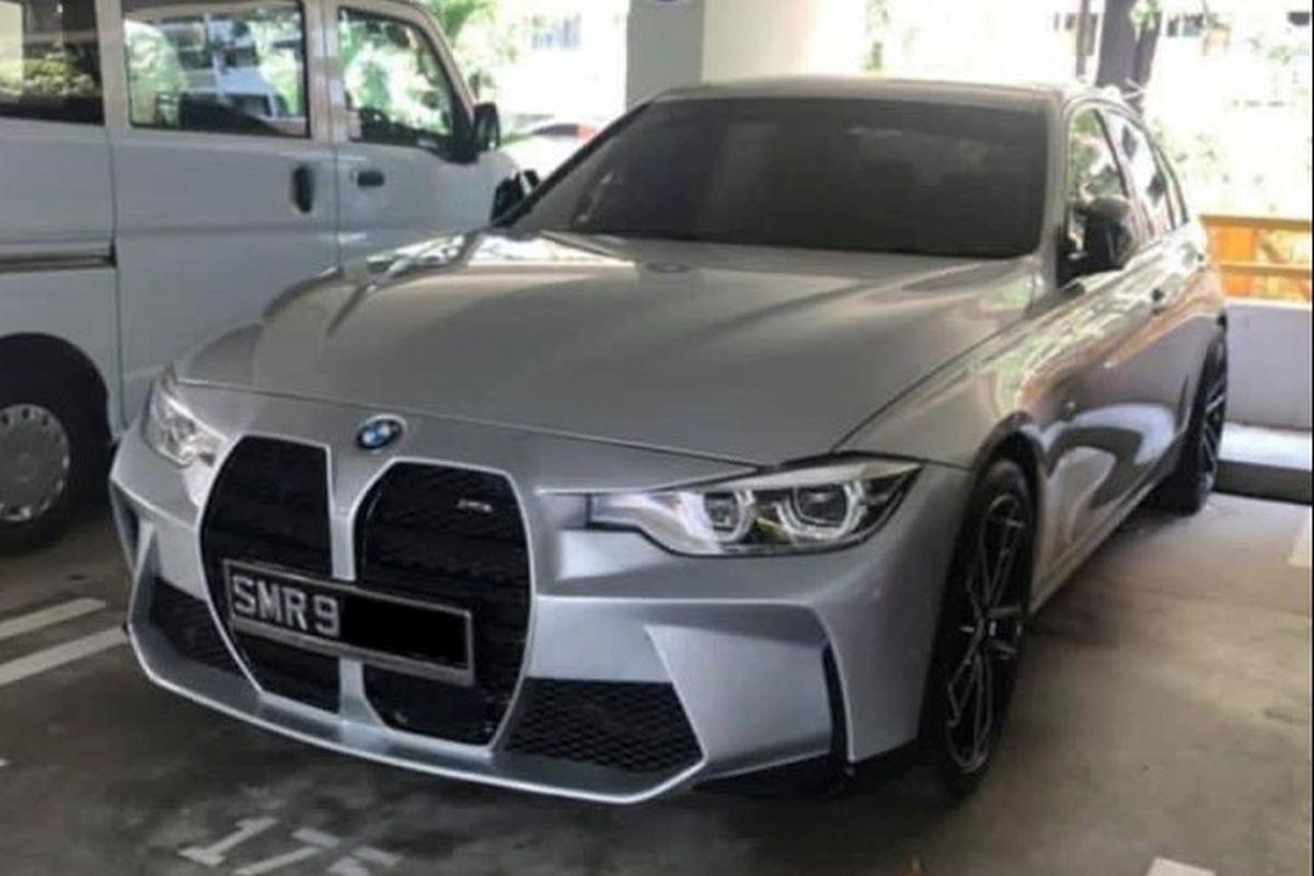 BMW Serii 3 z wielkim grillem