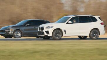 BMW X5 M vs Porsche Cayenne Turbo