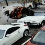 Wypadek na stacji paliw