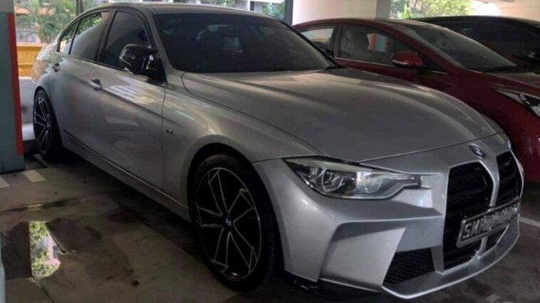 BMW F30 with grill from G80