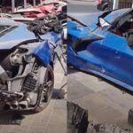 Chevrolet Corvette C8 rozbity w Dubaju