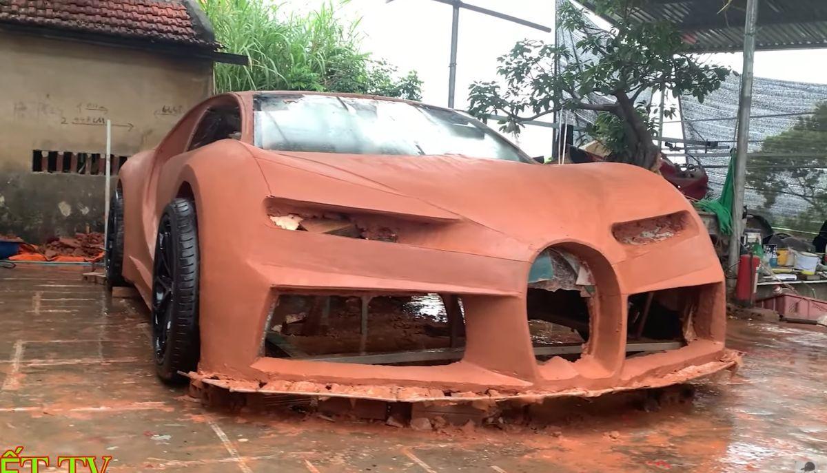 Bugatti Chiron z gliny