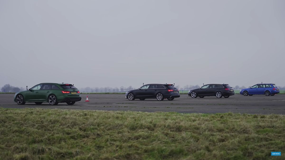 Audi RS6 all generations race